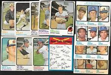 1973 OPC O PEE CHEE BASEBALL CARD ERROR VARIATION & CHECKLIST 529-660 SEE LIST