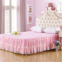 Lace Bed Skirt Princess Bedspread Bedding Sheets Single Double King Size Sheet