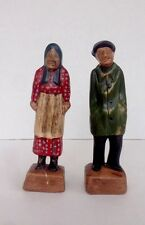 Vintage Ceramic Figurines Old Man And Old Woman