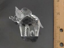 "Beautiful Swarovski Crystal Small Elephant, Frosted Tail, Almost 2"" Tall, No Box"