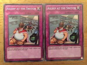 2 X Asleep At The Switch Yugioh Trading Card GENF-EN063 Trap Card