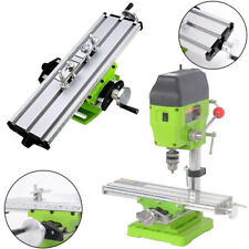 Compound Cross Slide Work Table Milling Machine Bench Drill Press Vice Vise Set