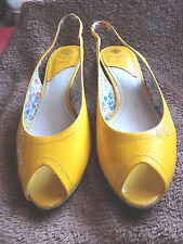 Replay Peeptoes Slingbacks Pumps Sandal Lackleder Gr 39