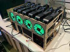 UK Seller 6 GPU Mining Rig Rack Frame Case Bitcoin Ethereum Monero BTC ETH LTC