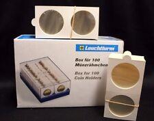 100 Matrix Self Adhesive 32.5mm Coin Holder 2x2 Storage Box 1/2oz Silver Taku