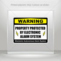 Sticker Decals Warning Property Protected By Electronic Alarm Sys st5 X4X58