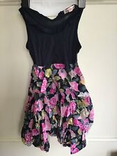 PRIMARK LITTLE GIRLS Navy Blue Pink FLORAL COTTON DRESS SIZE 3-4 Years BNWT NEW