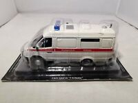 RUSSIAN DIECAST - CARS OF SERVICE - 1:43 SCALE GAZ 32214 GAZELLE AMBULANCE - NEW