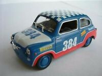 SEAT FIAT 600 RACING RALLY CAR MODEL 1/43 SCALE CHECK ROOF EXAMPLE 500 T213 ^**^