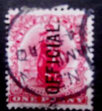 Nouvelle-Zélande - 1901-Universal Penny-OFFICIAL ISSUE-utilisé