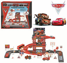 5pc Disney Lightning McQueen Diecast Car Park Garage Racing Track Board Game Toy