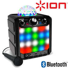ION Party Rocker Express Bluetooth Speaker w/ LED Light Show & Microphone Mic