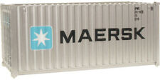 Walthers HO Scale 20' Corrugated-Side Shipping Intermodal Container Maersk