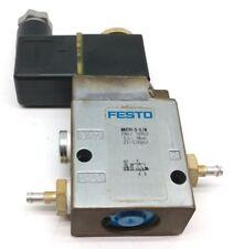 Festo Mfh 3 18 Solenoid Valve With Festo Msfg 24 42 5060 Solenoid Coil 24vdc