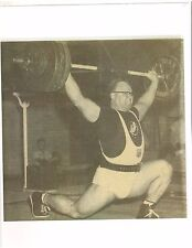Weightlifting Photo Olympic Weightlifter Norbert Schemansky Muscle B&W