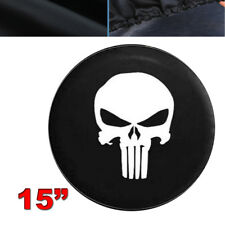 Spare Wheel Tire Cover/Tire covers with Skull Image For SUV Car 15 inches Size M