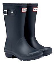 SALE Hunter Little Kids Boys Girls Wellies Wellington Boots Navy Blue Size 10