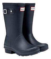 SALE New Hunter Kids Childs Girls Wellies Wellington Boots Navy Blue Size 12