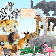 15 TIERE ZOO ABENTEUER | Tier- Figuren Wildlife Safari Dschungel Zebra Löwe ~vv