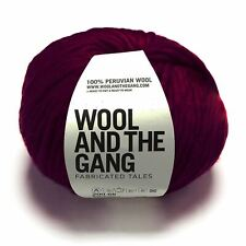 Wool And The Gang Verrückt Sexy Wolle - Margaux Rot 200g Super Grob Garn