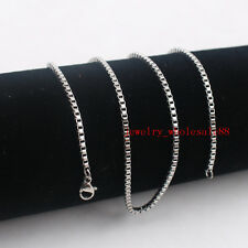 Cheap Price stainless steel Thin 1.5mm 18'' Box Chain Link Necklace women Gifts