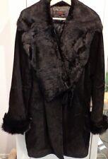 Manteau femme avec véritable fourrure de lapin Taille L (Neuf)
