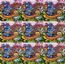 ALICE AND THE CATERPILAR 9 WAYS BLOTTER ART BY JAMES CLEMENTS MINT