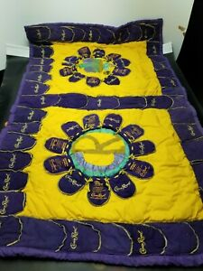 Handmade Mardi Gras 2009 Crown Royal Blanket Very Nice Addition to Any Man Cave
