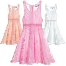 Markenlose Kurzarm Mädchenkleider für die Freizeit