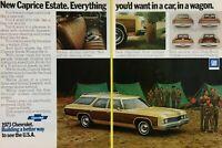 1973 Chevrolet New Caprice Estate Station Wagon Boy Scout Camp Vintage Print Ad