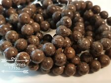 lot de 10 perles naturelles obsidienne     8mm
