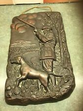 Old Hunting Scene  Cast.  Non Metallic. Metal  , Wall Hanging