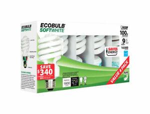 FEIT ECOBULB 23 watts A19 25 L Soft White CFL Bulb Utility 1600 lumens 4