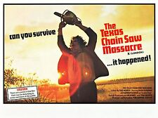 The Texas Chain Saw Massacre 1974 Canvas Art Movie Poster Horror Film Print