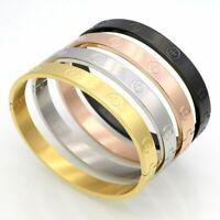 Screwdriver Screw Steel Bangle Bracelet Men's Women Silver Gold Black Rose Cross
