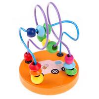 Juguetes educativos de ninos posavasos mini cuentas de madera punta de dedo U9D7