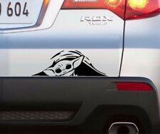 Baby Yoda Peeking Window Vinyl Decal Sticker (Any Color)