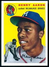 1954 Topps #128 Hank Aaron rc Milwaukee Braves HOF The Ultimate Rookie Reprint