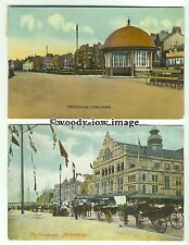 tp9666 - Lancs - Two Cards, Both of the Promenade, in Morecame - Postcard