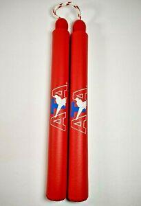 "ATA Karate/Taekwondo 12"" Training, Martial Arts Foam NunChuck Red"