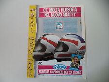 advertising Pubblicità 1987 CASCO HELMET ARAI FT e FREDDIE SPENCER
