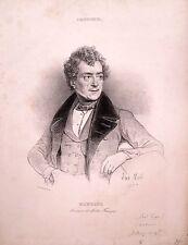 Lot de 9 lithographies,Comédiens du Théâtre Français, vers 1830