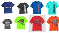 New Adidas Little Boys Athletic Sports Tee Shirts [Choose Color & Size]