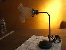 Ancienne lampe de bureaux industriel ( chevet ) H 34 cm cuivre ( laiton )