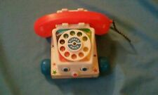 VINTAGE FISHER-PRICE CHATTER BOX TELEPHONE PHONE PULL TOY #747