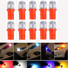 10x T10 5050 W5W 5 SMD 194 168 LED Red Car Side Wedge Tail Light Lamp Bulb
