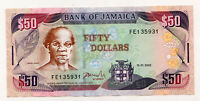 Bank Note Of Jamaica | Face Value = $50  |  💲 Nice 1 💲  | FE35931 |