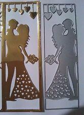 Sposato Nozze Pannello Metallo Taglio DIE Card Making Scrapbooking Goffratura Craft