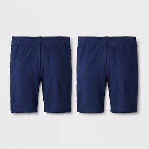 Girls Bike Shorts, Leggings, Under Skirt - Cat & Jack™ Navy, 2 Pack, Size 6, NWT
