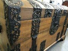 Barock Truhe um 1750 Eiche Eisenbeschläge 152 x 90 x 68